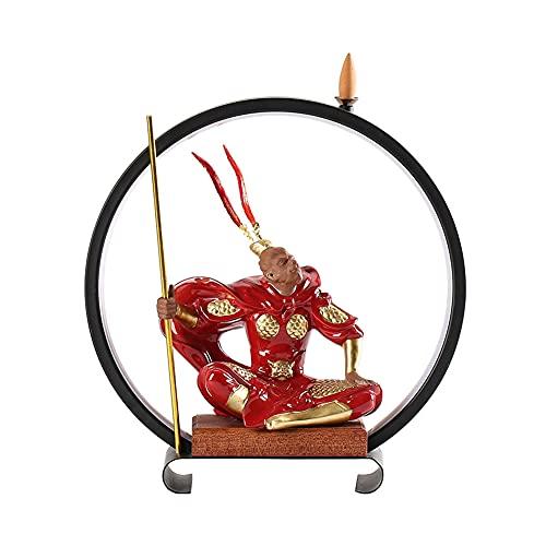 Lámpara Zen China, Adornos De Rey Mono, Anillo De Lámpara, Incienso De Reflujo, Iluminación Led, Porche De Oficina, Decoración De Escritorio, Luz Nocturna