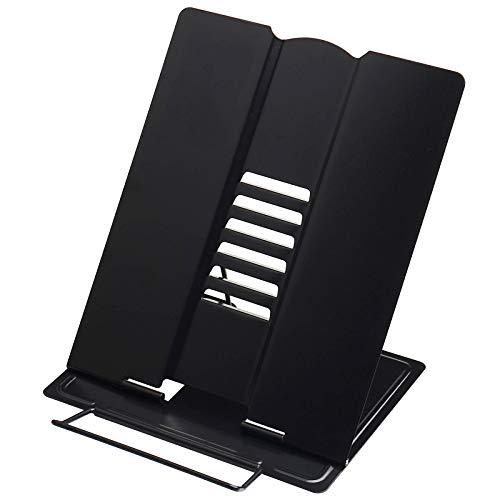 ZZC Atril De Lectura Portátil Multifuncional Soporte De Libro De Metal Plegable con 6 Alturas Ajustables para Cocina Y Oficina