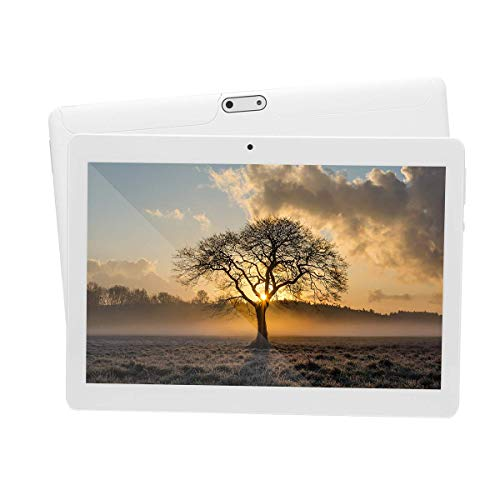 Android Tablet 10 inch with Sim Card Slots 4GB RAM 64GB ROM Octa Core 3G Unlocked GSM Phone Tablet PC Built in WiFi Bluetooth GPS (White)