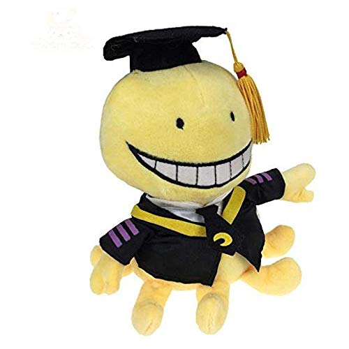 YLHU Juguete de Peluche Lindo Pulpo Profesor Suave muñeco de Peluche Animales Dibujos Animados Animales muñecas graduados niños Regalos