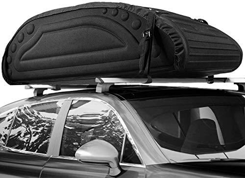 COSTWAY Bolsa de Techo de Coche Capacidad de 425 litros Bolsa de Portaequipajes Impermeable con Correas para Vehículos Jeep SUV Negro