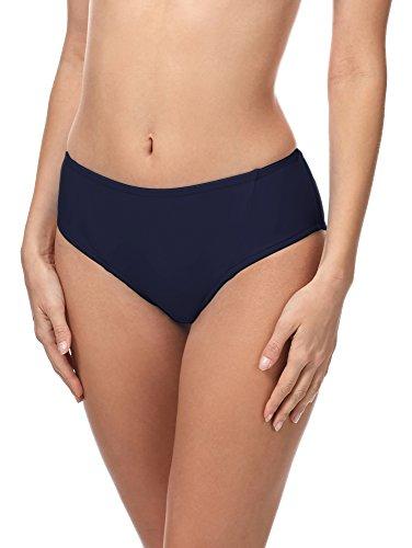 Merry Style Slip Bikini Coprente Vita Media Donna 18 (Blu Scuro (6007), 50)