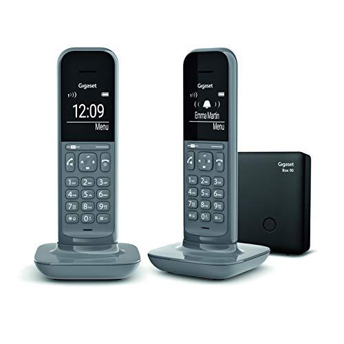 Gigaset CL390 DUO - Teléfono fijo inalámbrico para casa, pantalla iluminada, agenda...