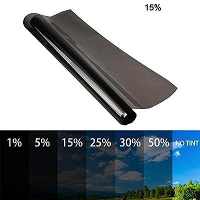 Film teinté autocollant universel 6M pour fenêtre de voiture, camionnette, protection solaire contre la chaleur, pare-soleil 50CM 15%