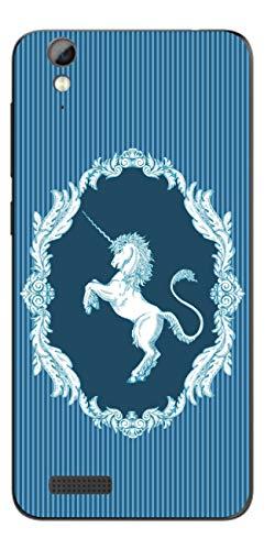 Disagu SF-108099_1131 Design Folie für Phicomm Energy 2 - Motiv klassisches Einhorn Streifen blau