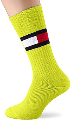 Tommy Hilfiger Herren TH FLAG 1P Socken, Gelb (Lime 019), (Herstellergröße: 39/42)