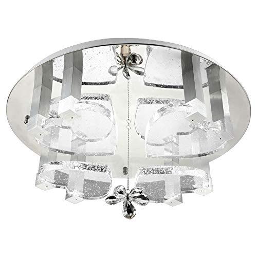 Eurotondisplay 1666 Plafonnier LED avec cœurs en cristal et bulles d'air avec télécommande Couleur de la lumière (blanc chaud, blanc neutre, blanc froid) commutable séparément A+ 1666Ø60cm LED 48W