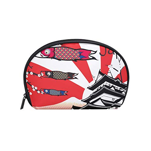 Cosmetic Bag with Zipper Cartoon Japan Style Clutch Travel Storage Bag Organizer Case for Women Makeup Pouch Bag