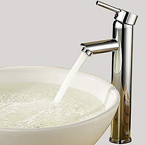 LCSD Wasserhahn Modernes Waschbecken Wasserhahn - Rotary verchromter Container Einlochmontage/Einzelgriff EIN Wasserhahn