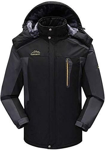Unbekannt Herren Winddichte Fleecejacke Winter Outdoor Sport wasserdichte Skijacke Mantel Camping Wandern Skifahren Laufen Klettern