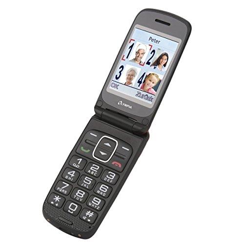 OLYMPIA Primus rot Komfort-Mobiltelefon mit Großtasten und Farb-LC-Display 8GB Speicher