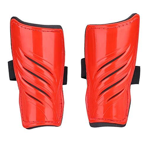 Alomejor 5 Farben 1 Paar Fußball Schienbeinschoner Kinder Fußball Beine Protector(Rot)