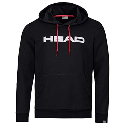 HEAD Herren Club Byron Hoodie M Hoodie, black/White, L