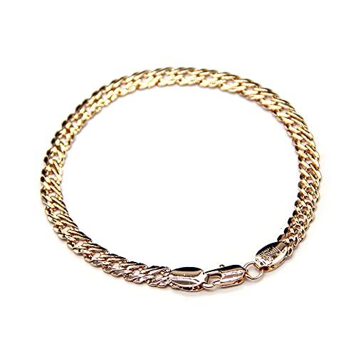 (sin marca) Pulsera de cobre chapado en oro 14K F84100060-21[Entrada paralela], M, Cobre,