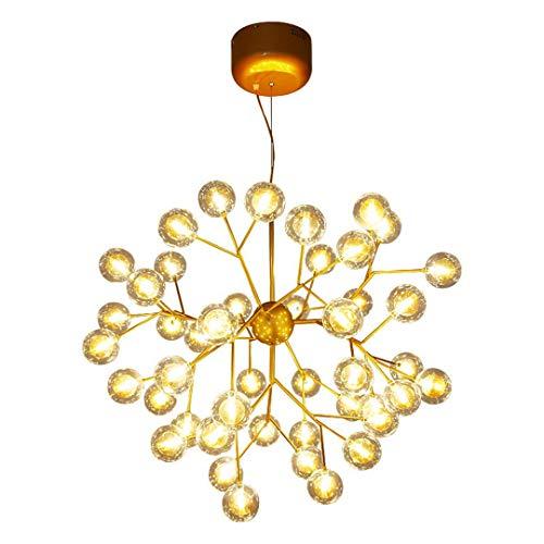 F&PERFTLMP - Lámpara de techo moderna para salón, restaurante, estudio de bola de árbol de navidad, color dorado 31 – 40 W 45 Heads