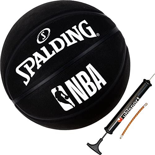 Spalding Ball Basketball NBA Outdoor Street Black schwarz Größe 7 + Ballpumpe