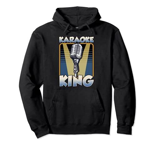 Karaoke Re shirt divertente Canto Musica canzone Sing Along Felpa con Cappuccio