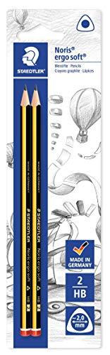 12x STAEDTLER Noris ergo soft 153 2B Bleistifte Bleistift bruchfest 100/%PEFC NEU