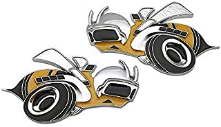 Pair 3D Metal Charger SRT8 Super Bee Logo Car Emblem Badge Sticker Decal For Dodge