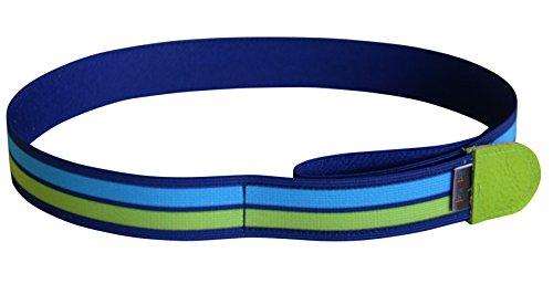 Ed&Kids Kindergürtel Ohne Schnalle Elastisch Größenverstellbar Streifen grün blau Größe S