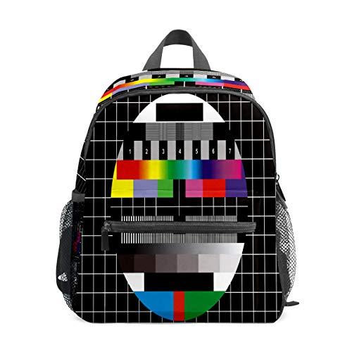 Kinder-Rucksack für Vorschule, für Jungen und Mädchen, leicht, für 1–6 Jahre, perfekter Rucksack für Kleinkinder im Kindergarten, chinesisches Fernsehen, bunt, quadratisches Karomuster