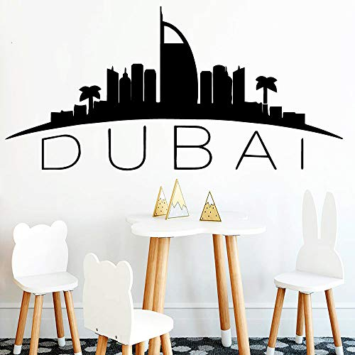 yuandp Mode Dubai Kaart Muursticker Home Decoration Vinyl Sticker Woonkamer Slaapkamer DIY Wallpaper Huisdecoratie Fitting 30 * 61cm