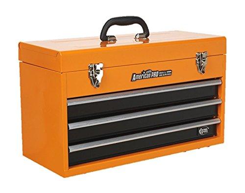 Caja de herramientas portátil con 3 cajones con rodamientos y mango DJM