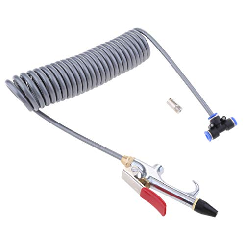 MagiDeal de Pulverización de Soplado con Soplador de Aire de 1/4 `` + Boquilla de Limpieza de Soplador de Polvo de Manguera de Retroceso de 3,5 M