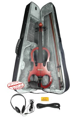 Fever VLE-BW Solid Wood Electric Violin with Ebony Fittings - Brown