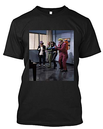 #Cesar #Romero #and #Burgess #Meredith and Lee Meriwether and Frank Gorshin in Batman T Shirt Gift Tee Black