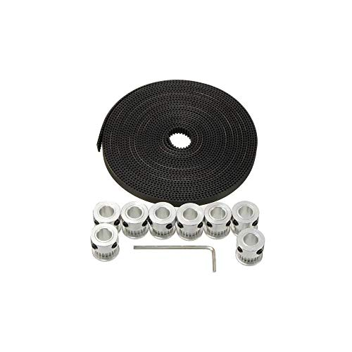 Manual electronic components 20T GT2 For Rap Prusa Mendel 3D Printer Aluminium Timing Pulley 2GT 5M Belt