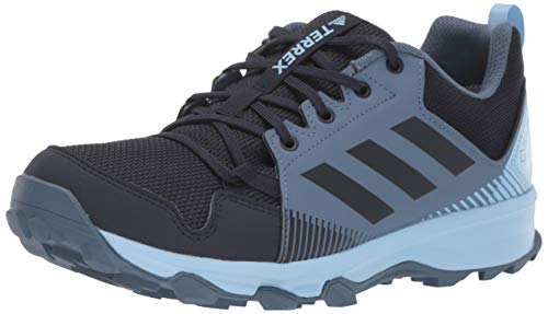 adidas outdoor Women's Terrex Tracerocker GTX Trail Running Shoe, Legend Ink/Legend Ink/Glow Blue, 6.5 M US