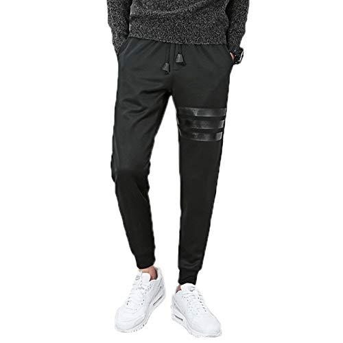 WSLCN Homme Pantalon de Sport Jogging Pantalon Longue Casual Survêtement Respirant Poches Slim Fit Élastique H(avec Velours) Large