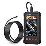 Industrial Endoscope, DESKOP 4.3inch LCD Screen with 5.5mm Borescope 1080P HD Micro Inspection Camera Semi Rigid Cable for Auto Engine Inspect (11.5 FT)