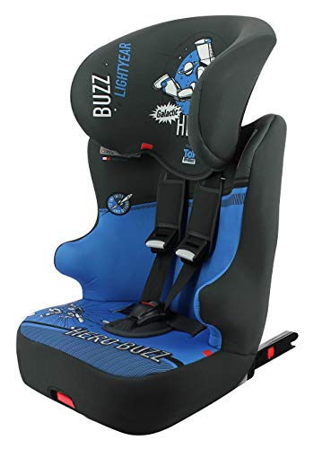Seggiolino auto NANIA ISOFIX RACER- Gruppo 1/2/3 (9-36kg) con sedile inclinabile - produzione francese 100% - protezioni laterali - Disney First...