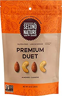 Second Nature Premium Duet Trail Mix - Healthy Nuts Snack Blend - 10 oz Resealable Pouch (Pack of 6)
