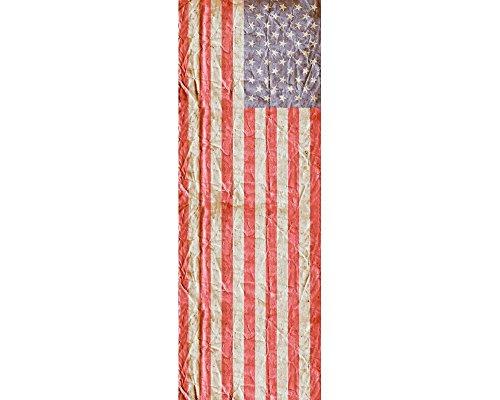 awallo Dekopanel Motiv Flagge USA in den Farben Blau, Rot, Weiss Fototapete in 100x280cm auf Vliestapete Made in Germany einfache & schnelle Verarbeitung