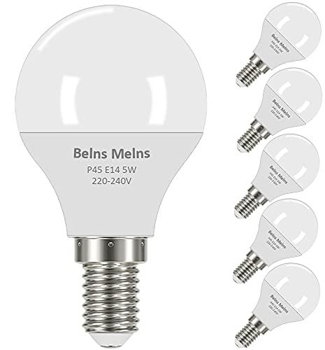 E14 LED Lampe, dimmbar, 5W (ersetzt 40W), warmweiß, 6er-Pack