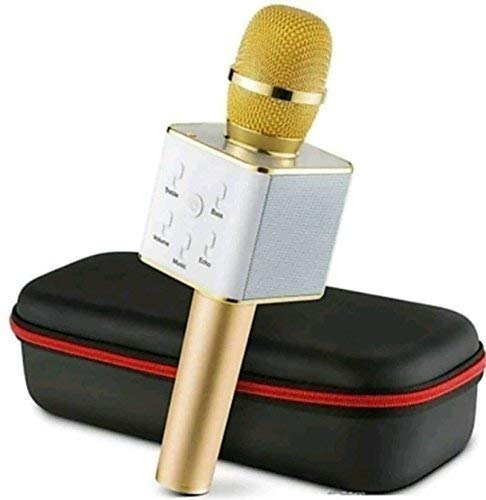 V.T.I. Q7 Bluetooth Mic | Wireless Handheld Karaoke Microphone | Mike for Singing with Speaker for All Smartphones (Multicolour)