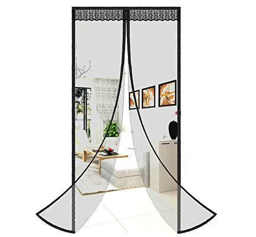 Magnetic Screen Door Easy Install Screen Door Magnetic Door Screen Pet Friendly Fiberglass Sliding Door Screen Door Mesh Door Screen Door Net for Doors Screen for Door
