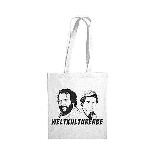 Bud Spencer Baumwolltasche - Weltkulturerbe - (Weiss) (38x42cm)