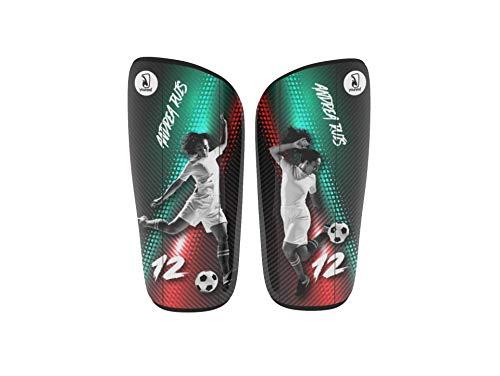 Younext Espinilleras Personalizadas de fútbol con tu Foto, Nombre y número - Fibra de Carbono