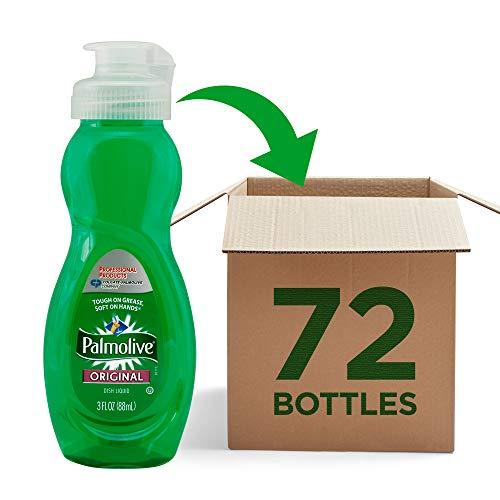 Palmolive 01417 Dishwashing Liquid, Original Scent, 3oz Bottle (Case of 72), Green (10035110014170)