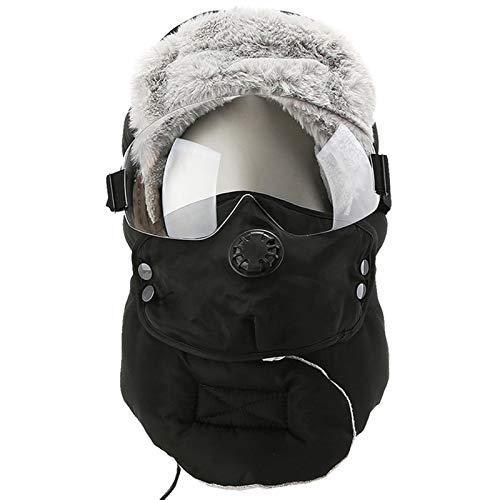 Gorro térmico de forro polar con protección contra el frío y el viento.