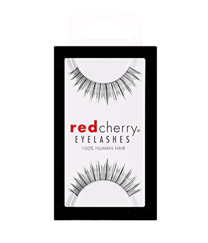 Red Cherry #505 False Eyelashes, Black (Pack of 6)