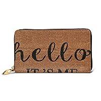 レディースバッグ 財布 こんにちはそれは私です私 大容量 本革 長財布 人気 RFID プレゼントBOX付き 10.5X19CM