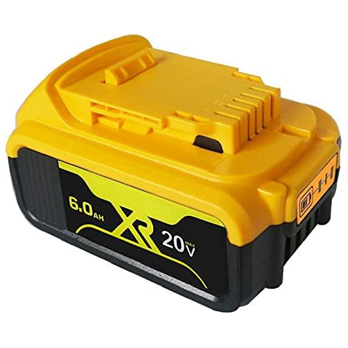 2 pacchi DCB200 6.0A. Batteria al Litio Ricaricabile Sostitutiva per Dewalt 20v Max XR DCB205 DCB206 DCB203 DCB201 Strumenti, WQQWQQ-8521 (Color : 6Ah)