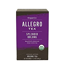 Allegro Tea, Organic Splendid Oolong Tea Bags, 20 ct