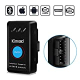 Kimood OBD2 Bluetooth 4.0 Diagnostique Voiture Nouvelle Version Mini OBD2 Diagnostic Auto Compatible avec iPhone, Android, Windows, Symbian