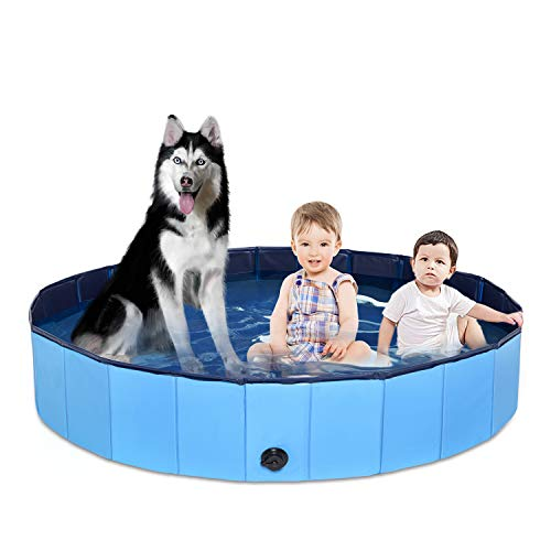 Foldable Pet Dog Bath Tub Swimming Pool Collapsible Puppy Cat Indoor Outdoor Bathing Tub Swimming...